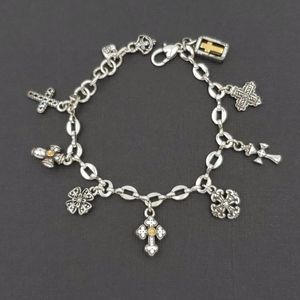 Brighton Silver Cross Charm Bracelet